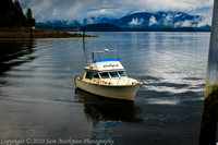 The Cathy J, a fishing charter, in Hoonah Alaska