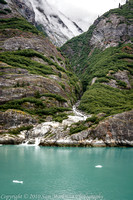 Tracy Arm Fjord - one of numerous waterfalls