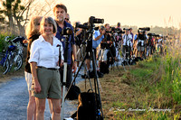 Coastal Camera Club members waiting for the super moon