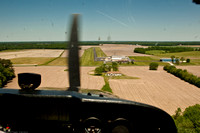 Landing at Farmington Delaware's Chorman Airport to check on Kent's Plane which is being painted