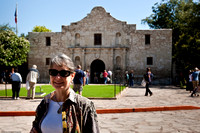 Diane in front of the Alamo