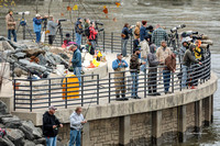 Photographers and Fisherman mix at Conowingo Fisherman's Park