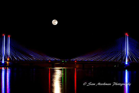 Moon Rise over the Indian River Bridge