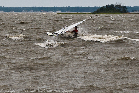 Wind Surfer on Bay at Rusty Rudder