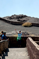 Diane Waves from Mid-Point of the Masaya Volcano Overlook